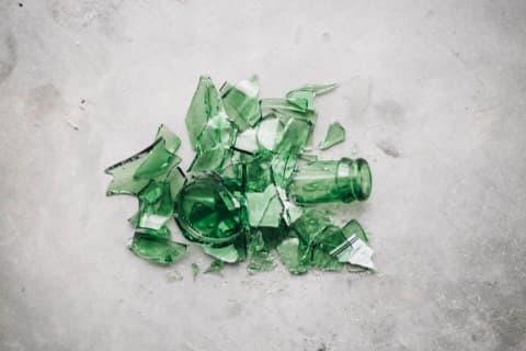 A broken bottle