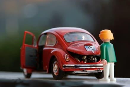 A diecast toy car