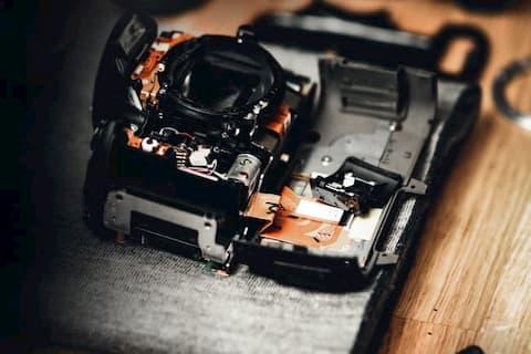 A broken camera